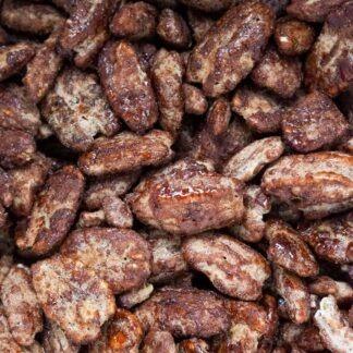 Noix de pécan caramélisées